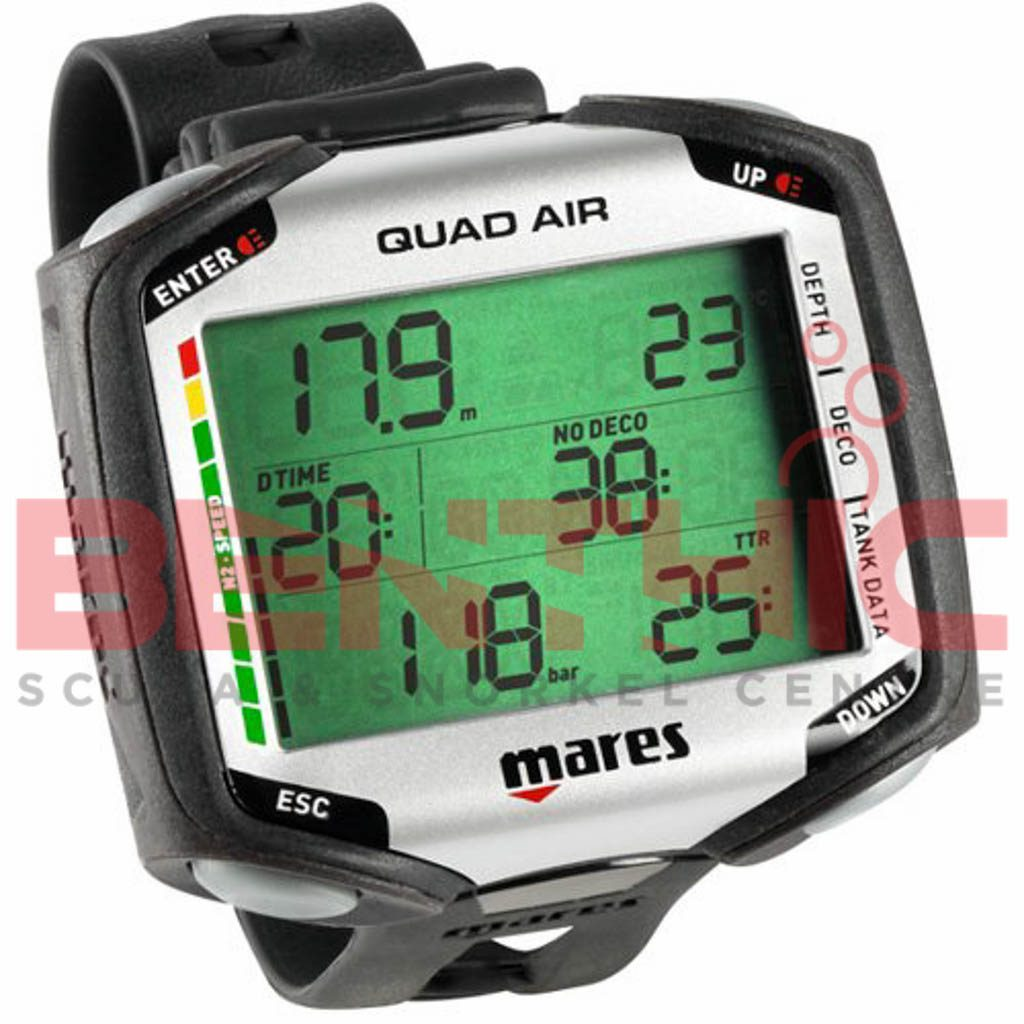 Mares quad air wrist computer with transmitter benthic scuba for Dive computer sale